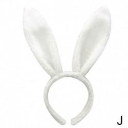 fehér - Húsvéti aranyos nyúl fülpánt prop plüss hajú ruha jelmez nyuszi hajszalag