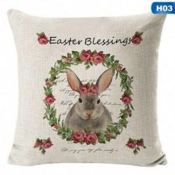 H03 - Boldog húsvéti nyuszi párnahuzat ágynemű kanapé párnahuzat lakberendezési párnahuzat