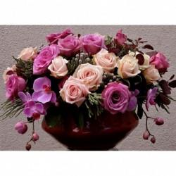 30 * Blume - c1049 30 * 40cm - Teljes körű fúró 5D strasszos kép barkácsolás virágok gyémántfestés