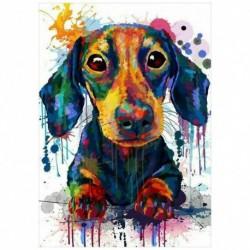 Nincs szín - 1989candy 5D barkács teljes fúró gyémántfestéses kutya keresztszemes kézműves készlet (Co