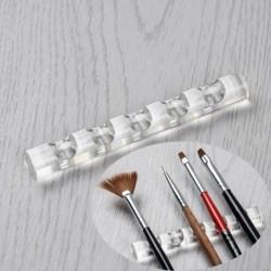 Nincs szín - Akril átlátszó Nail Art eszköz kefe állvány tartó tartó szervező 5 köröm tollhoz