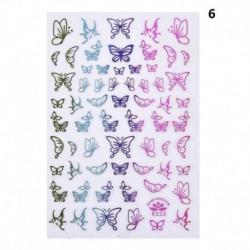 * 06 - 3D színes pillangók Nail Art matricák Nail Art Water Decals transzferek DIY AU