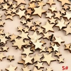 * 5 csillag 100db (8mm-20mm * 2,5m ... - DIY 3D karácsonyfa fa medálok függő karácsonyi dekoráció otthoni party