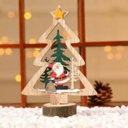 1db sárga csillagfa (18x6cm) - DIY 3D karácsonyfa fa medálok függő karácsonyi dekoráció otthoni party dekoráció
