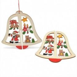 1db Harang - DIY 3D karácsonyfa fa medálok függő karácsonyi dekoráció otthoni party dekoráció