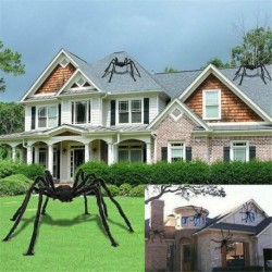 Nincs szín - Nagy pók Halloween dekoráció kísértetjárta ház beltéri kültéri fekete óriás Egyesült Királyság