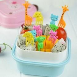 Nincs szín - 10db Bento aranyos állati étel gyümölcsszedők villák ebéddoboz tartozék dekor eszköz