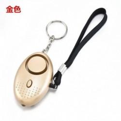 Arany - Biztonságos hang Személyi riasztás kulcstartó Hangos riasztás LED fény 140db önvédelmi sziréna