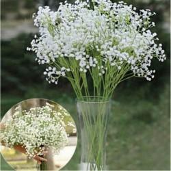 * 10 Fehér - Virágcsokor mesterséges selyem rózsa virág otthoni menyasszonyi esküvői party váza dekoráció