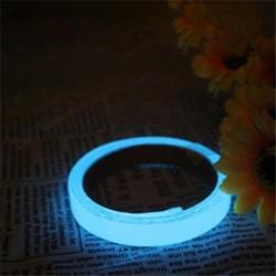 Kék (1cmx3m) - Világító ragyogás a sötétben fluoreszkáló éjszakában öntapadó biztonsági matrica szalag JP