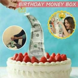 Happy Birthday feliratos tortadísz és Pénzdoboz tortához szülinapra