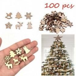 100db Mini Vegyes fa dísz - Karácsonyfa - Száncsengő - Hintaló - Rénszarvas - Hópehely - Karácsonyi dekoráció