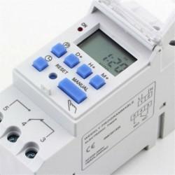 Nincs szín - AC 110 / 220V 16A digitális LCD DIN programozható heti sínidőzítő időrelé kapcsoló