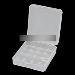1db 4 x 18.650 átlátszó fehér Akku Htároló doboz