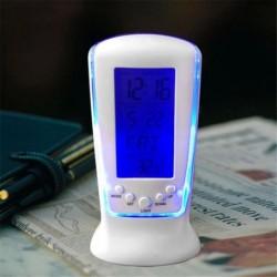 Nincs szín - Digitális háttérvilágítású LED kijelző táblázat szundi hasznos hőmérő ébresztőóra USA