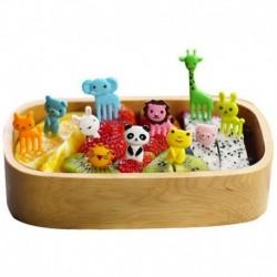 Nincs szín - 10db aranyos állati étel gyümölcsszedők villák ebéd Bento doboz tartozék dekor eszköz