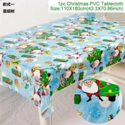 Karácsonyfa - Karácsonyi PVC terítő letörölhető terítőlemez borító törölje le a tiszta vinilolaj ruhát