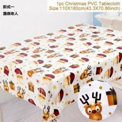Elk Mikulás - Karácsonyi PVC terítő letörölhető terítőlemez borító törölje le a tiszta vinilolaj ruhát