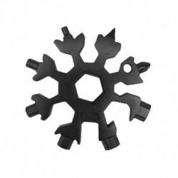 Fekete - 18 az 1-ben multi szerszám rozsdamentes eszköz hópehely alakú kulcstartó csavarhúzó USA