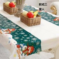 Hóember - WIPE CLEAN PVC VINYL Asztal ruházat étkező asztal borító védő többszörös tervek