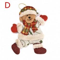 1db 118x140mm-es Karácsonyi ruhás mackó dísz - Karácsonyi dekoráció - 22 D