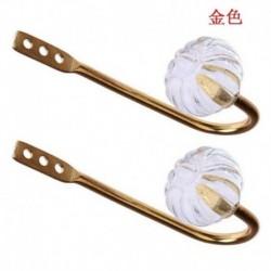 Arany - 2db ezüst fém kristályfüggöny visszatartó fali nyakkendő hátsó kampók akasztótartó CA