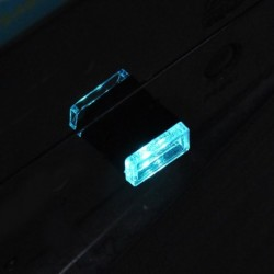 Jégkék - RGB színes USB LED Mini vezeték nélküli autó belső világítási légköri fény Univerzális