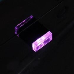 Lila - Univerzális RGB USB LED Mini vezeték nélküli autó belső világítási légköri fény