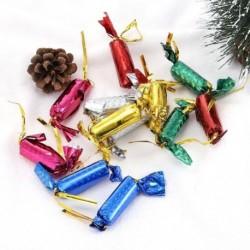 12db - 60db aranyos karácsonyi cukorka csillogó cukor mini fa díszek lakberendezési USA
