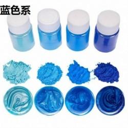Kék sorozat - 20 színű világító porgyanta pigmentfesték UV gyanta epoxi barkácsolás ékszerek készítése USA