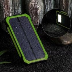 Kék - 50000mAh Solar Power Bank vízálló 2 USB LED akkumulátor töltő mobiltelefonhoz