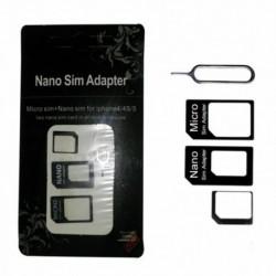 Nincs szín - Nano SIM-kártya mikrostandard adapter adapter átalakító készlet Iphone 4S 5 5S készülékhez