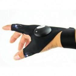 Jobb kéz - 1Pair LED-es lámpa ujjvilágító kesztyű Automatikus javítás a szabadban villogó műtárgy USA-ban
