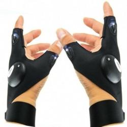 Bal   Jobb kéz - 1Pair LED-es lámpa ujjvilágító kesztyű Automatikus javítás a szabadban villogó műtárgy USA-ban