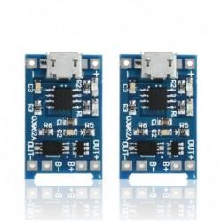 Nincs szín - Sok 2db 5V-os mikro USB 1A 18650 lítium akkumulátor töltőtábla töltő modul