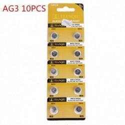 10db AG3 - 5/10 / 100PCS alkáli érme gombelem a robusztus játékóra távirányítóhoz