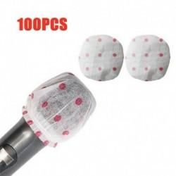 Nincs szín - 100 Count mikrofon higiéniai borító szageltávolítás eldobható Mike szivacs USA