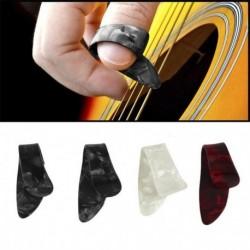 Nincs szín - 1 készlet műanyag 3 ujjválogató   1 hüvelykujj-választó plektrum gitár