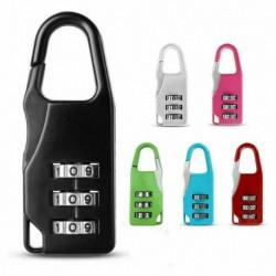 Nincs szín - 3 számjegyű mini kód fémkombinációval utazó poggyász bőrönd zár jelszó színek