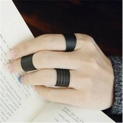 3 db fekete nyitott gyűrű készlet - 12db ezüst / arany Boho verem sima csülök felett Midi ujj gyűrűk készlet ajándék