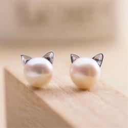 * 15 1 pár Cat - 24 pár divat női strasszos kristály gyöngy fülbevaló ékszer ajándék