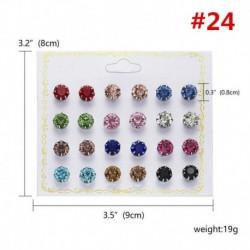 * 24 12 pár / tétel - 24 pár divat női strasszos kristály gyöngy fülbevaló ékszer ajándék