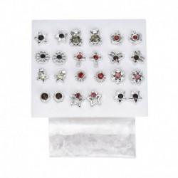 * 3 12pár ezüst - 24 pár divat női strasszos kristály gyöngy fülbevaló ékszer ajándék