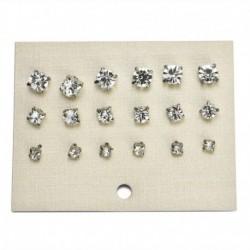 9pár pár ezüst - 24 pár divat női strasszos kristály gyöngy fülbevaló ékszer ajándék
