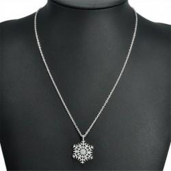 * 4 nyaklánc (45cm hosszúság) - Ezüst csillag hópehely strasszos kristály karácsonyi fülbevalók nyaklánc ékszer szett