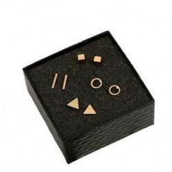 Arany - 4 pár apró Circle T rúd fülbevaló geometriai háromszög fülbevaló új