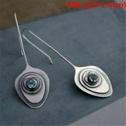 * 86 - 925 ezüst dangle csepp fülbevaló fülhorog holdkő női divat ékszer ajándék