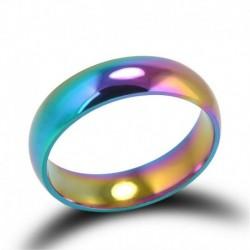 7 - Hematit titánacél színes szivárvány gyűrűk eljegyzési esküvői ékszer ajándék