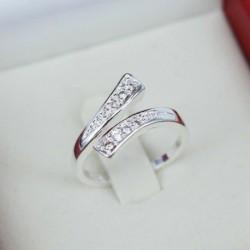 Nincs szín - Divat női ezüstözött kristálygyűrűk ujjpánt állítható gyűrű ékszerek