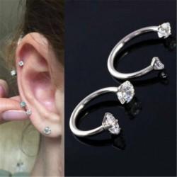 Nincs szín - Divat kristály gyűrűk orr ajak szemöldök mellbimbó fül has gyűrű Piercing ékszerek USA